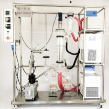 Effective CBD extraction molecular distillate apparatus