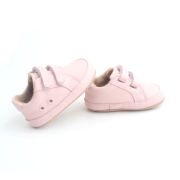 New Double Strap Pink Baby Girl Casual Shoes