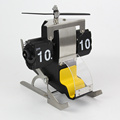 Auto Helicopter Flip Desk Clock