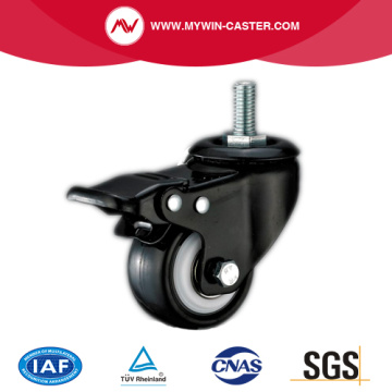 Braked Threaded Stem TPR Industrial Caster