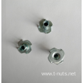 4 claw Round bottom Zinc Plating Tee nuts
