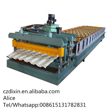 Building Material Aluminum Glazed Tile Roll Forming Machine