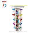 5 Tier 360 Degree Spinning Hanging Smart carousel shoe rack organizer