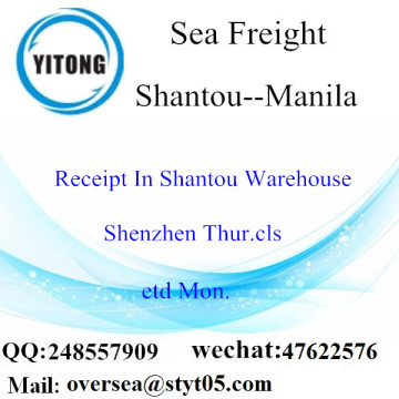 Shantou Port LCL Consolidation To Manila