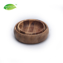 Set Of 2 Acacia Wood Bowls