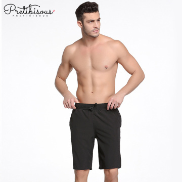 Mens quick dry breathable black swim shorts