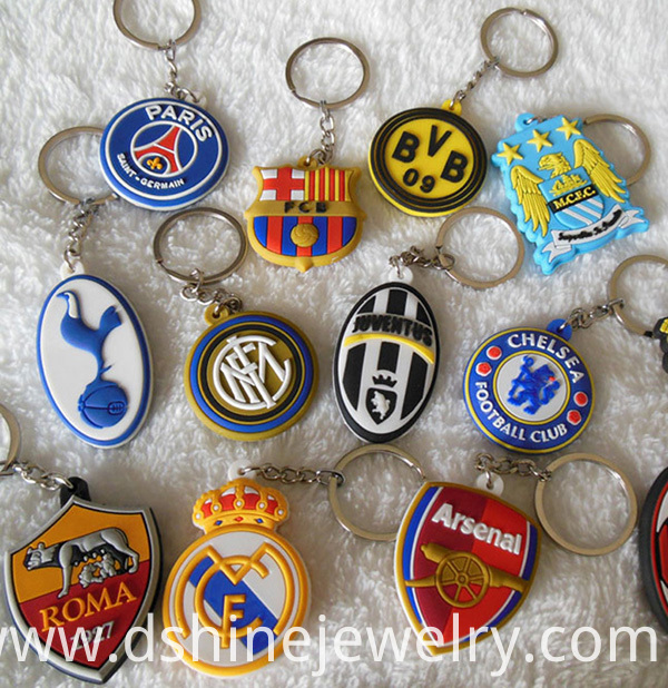 Promotional Cheap Custom 3D Soft PVC Keyring