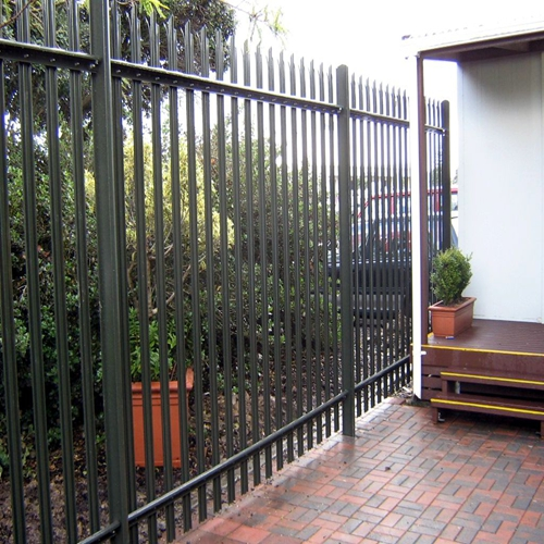 SGS/BV/ISO 9001 PVC coated palisade fence