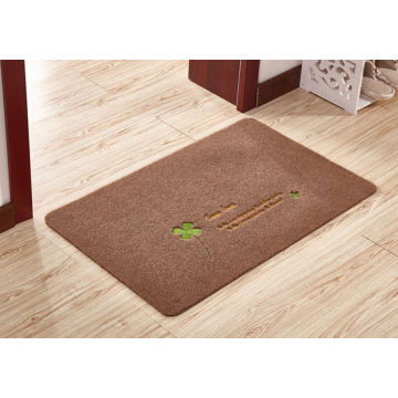 Polyester welcome entrance floor mat embroidery rugs