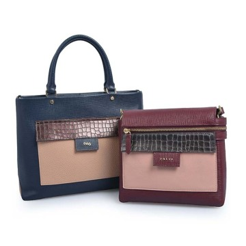 Latest Design Female Mix Color Leather Crossbody Bag