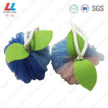 Enchanting apple shape mesh bath ball