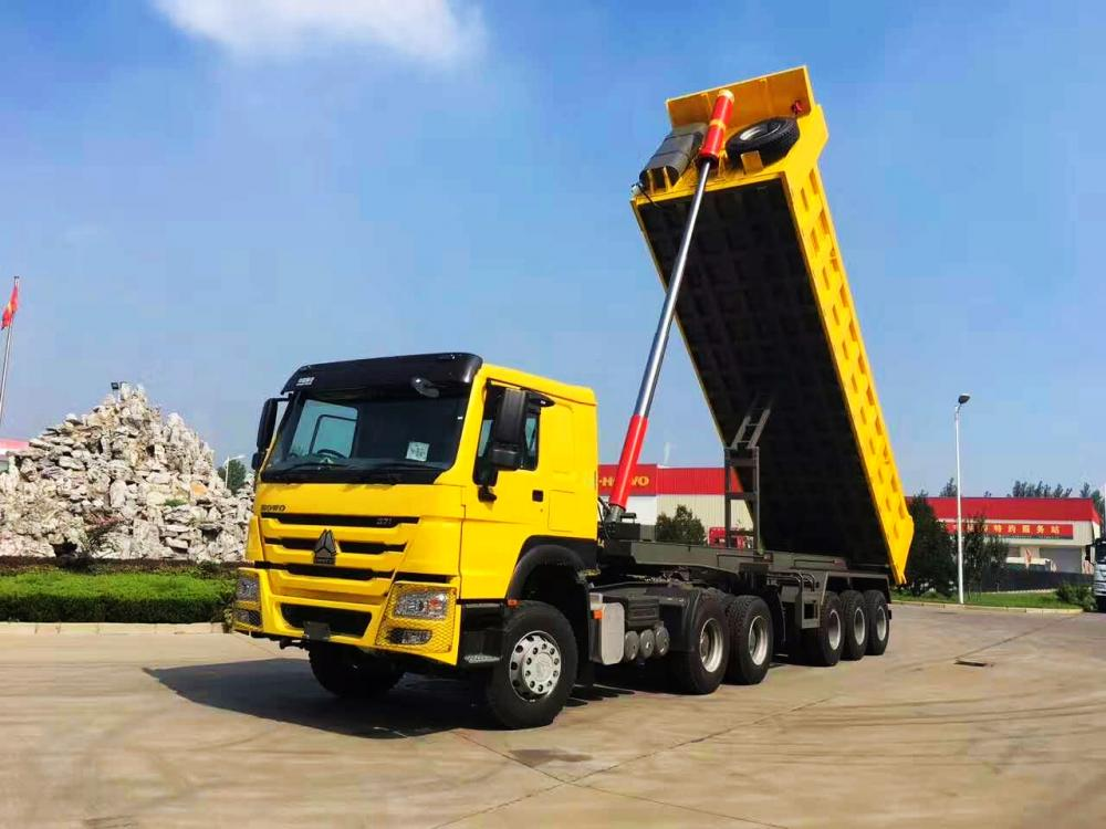 28 Cbm Bulk Heavy Duty Tipper Trailer For Tanzania Market