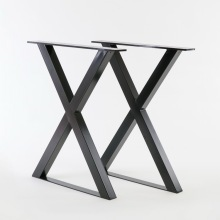 Industrial Style Raw Steel Metal Dining Table Legs