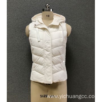 women`s  white sleeveless cotton-padded clothes