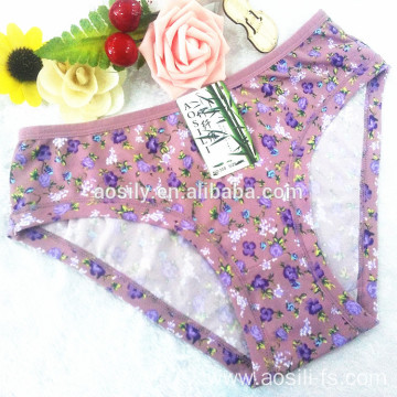 AS-550 OEM China underwear wholesale custom women briefs underwear teen sexy girls briefs printed