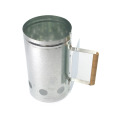 Metal chimney charcoal bucket for fire start