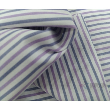 Stripe Plain Polyster Fabric