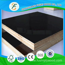 Construction Cement 1200x2400 mm Black Film Faced Plywood