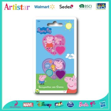 Peppa Pig sharpener&eraser blister card set