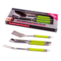 3pcs BBQ set with TPR coating handle