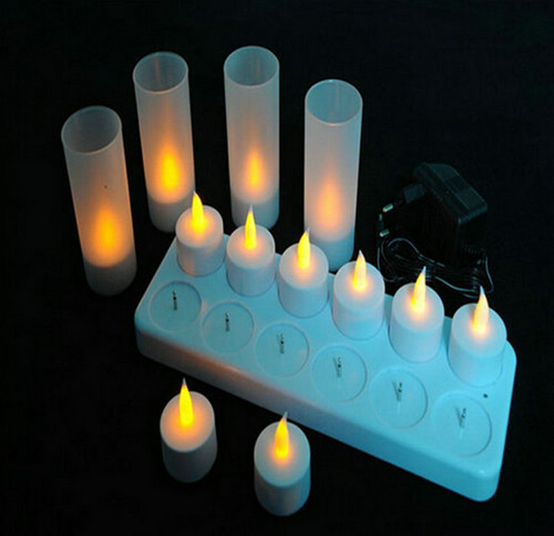 RECHARGEABLE TEALIGHT LED CANDLE
