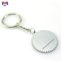 Metal custom embossed logo keychain