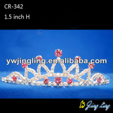 Pink rhinestone wedding crowns hair accessories