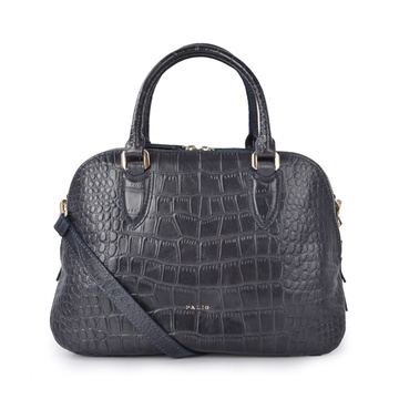 Classic Embossed Antique Leather Tote Bag for Women