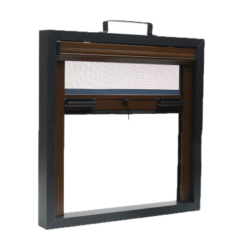 Retractable window with aluminum frame 3402