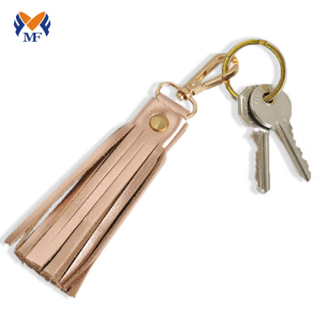 Woman genuine leather keychain handmade in bulk