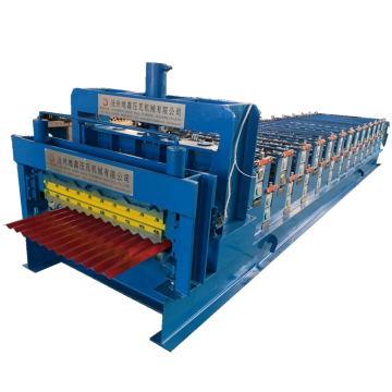 Corrugated roof sheet and trapezoidal forming machine