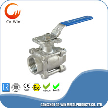 1000WOG 3PC Ball Valve With Mounting Pad