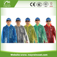 Adult PE Disposable Raincoat