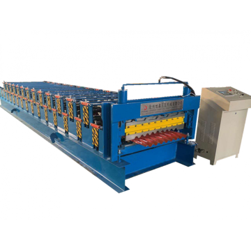 Trapezoidal double layer sheets roll forming machine