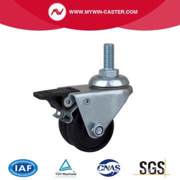 80Kg Threaded Brake PA Machine Caster