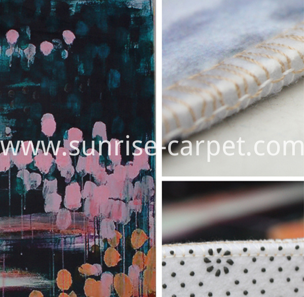 macro heat transfer printing carpet