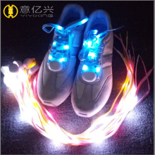 Glowing multi color LED shoelaces for men