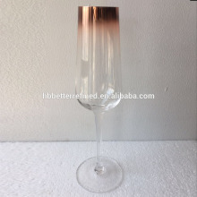 Hand Blown Ombre Copper Champagne Glasses
