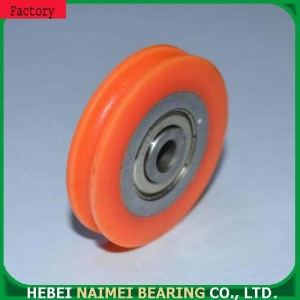 High speed U groove rope pulley ball bearings
