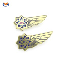 Best sale gold plated half wing metal badge