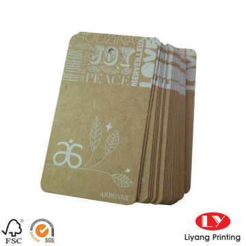 Custom High quality garment paper hang tag