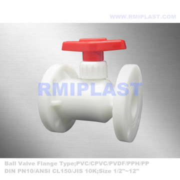 Lever Operate PVDF Ball Valve For Chemical