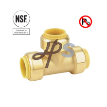 NSF Low Lead Brass Push Fit Tee Fitting
