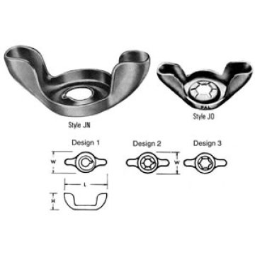 butterfly stainless steel wing nuts