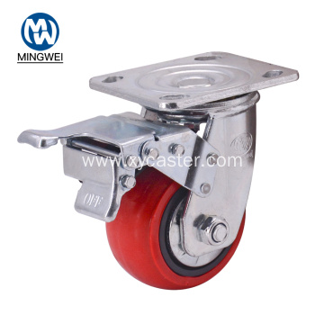 4 Inch Plate Caster Wheel With Brake