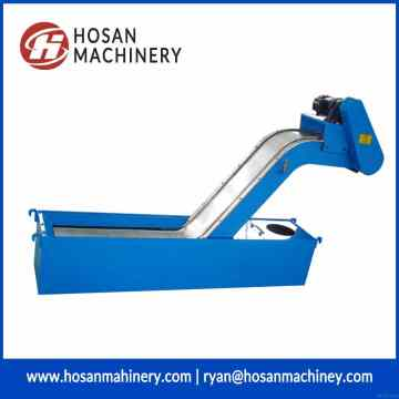 Magnetic plate form scraps excluding machine chip conveyor