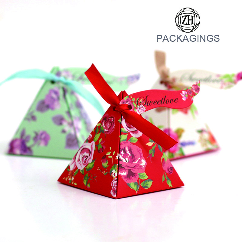 New Design Pyramid Paper Candy Box Gift Box
