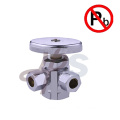 Dual Outlet brass angle supply valves