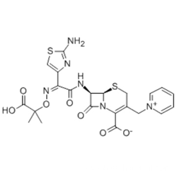 1-[[(6R,7R)-7-[[(2Z)-(2-Amino-4-thiazolyl)[(1-carboxy-1-methylethoxy)imino] acetyl] amino]-2-carboxy-8-oxo-5-thia-1-azabicyclo[4.2.0] oct-2-en-3-yl]methyl]pyridinum hydroxide inner salt CAS 72558-82-8