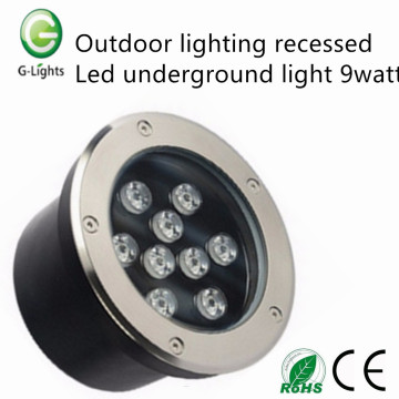 Outdoor lighting recessed led underground light 9watt